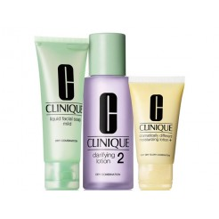 Clinique  3-Step Intro Kit Skin Type 2 1x100ml, 1x50 ml, 1x30 ml Set