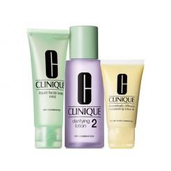 Clinique  3-Step Intro Kit Skin Type 2 1x100ml, 1x50 ml, 1x30 ml Set