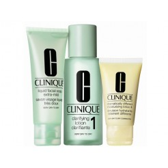 Clinique 3-Step Intro Kit Skin Type 1 1x100ml, 1x50ml, 1x30ml Set