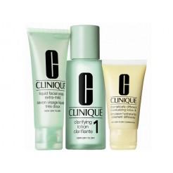 Clinique 3-Step Intro Kit Skin Type 1 1x100ml, 1x50ml, 1x30ml Set